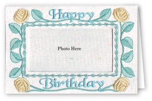 Happy Birthday Roses - Photo Greeting Card