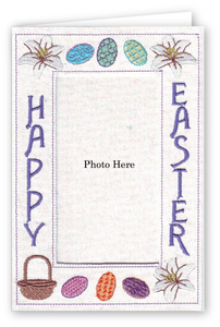 Happy Easter Egg Basket - Photo Greeting Card