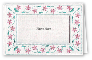 Floral Vine - Photo Greeting Card