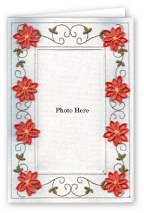 Curly Vine with Freestanding Flower - Photo Greeting Card