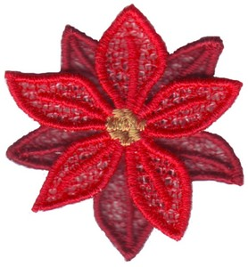 FSL - Poinsettia Freestanding - Photo Greeting Card