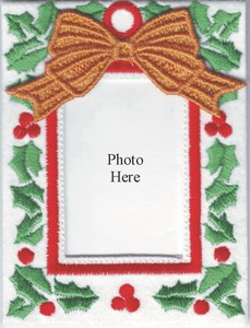 Photo Frame Ornament with Freestanding Bow