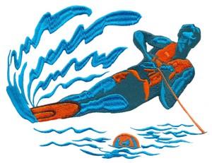 Water Skier (Square Hoop)