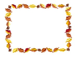 Autumn Leaf Border (Square Hoop)