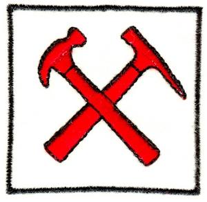 Hammer & Pick w/border