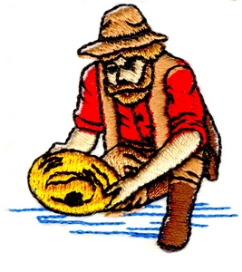Panning Gold Miner