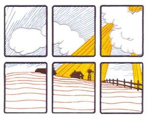 Country Window Scene (Square Hoop)