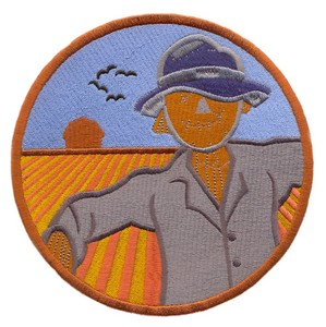 Scarecrow in Circle (Square Hoop)
