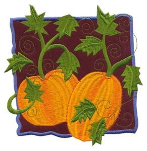 Pumpkin Applique (Square Hoop)