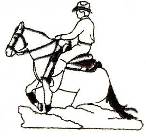 Running Horse with Rider - smaller