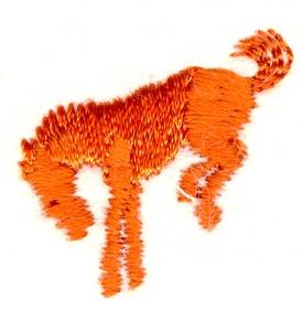 Bucking Mustang silhouette