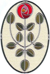 Glasgow Rose Branches Oval Fill (Large)
