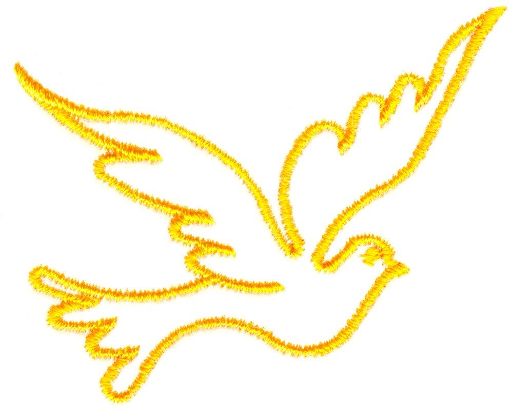 Custom Embroidery Designs By Stitchitize Flying Dove outline