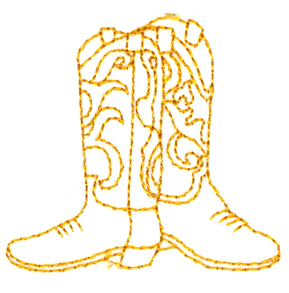 cowboy boots outline custom embroidery designs by stitchitize