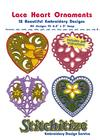 Lace Heart Ornaments