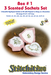 Bee #1 - 3 Scented Sachets Set