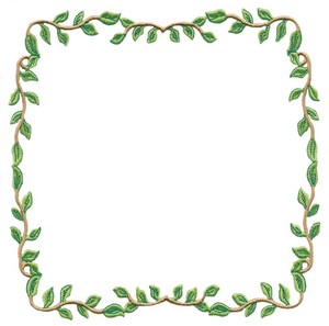 Leaf Border (Square Hoop) Custom Embroidery Designs By Stitchitize