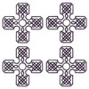 Four Knotted Crosses (Square Hoop)