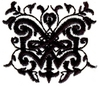 Wrought-iron Butterfly Design
