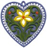 FSL - Single Flower Heart Ornament (freestanding)