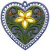 FSL - Single Flower Heart Ornament (freestanding)