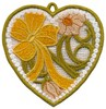 FSL - Flowers and Bow Heart Ornament (freestanding)