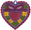 FSL - Heart and Bow Heart Ornament (freestanding)
