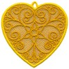FSL - Scroll Heart Ornament (freestanding)
