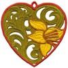 FSL - Lily Heart Ornament (freestanding)