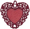 FSL - Swirl Bordered Heart Ornament (freestanding)