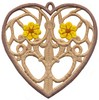 FSL - Daisy Heart Ornament (freestanding)