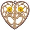 FSL - Daisy Heart Ornament (freestanding)