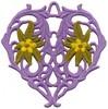 FSL - Floral Vine Heart Ornament (freestanding)
