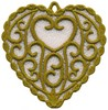 FSL - Swirl Heart Ornament (freestanding)