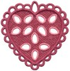 FSL - Loop Bordered Heart Ornament (freestanding)