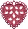 FSL - Loop Bordered Heart Ornament (freestanding)