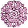 FSL - Daisy Hearts Round Lace Doilie (Small freestanding)