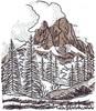 Alpine Scene Landscape ( large )