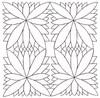 Bamboo Leaves - Sashiko Style (larger)