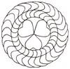 Heart Ring - Sashiko Style (smaller)