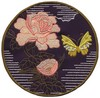 Peony and Single Butterfly - Sashiko Picture