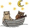 Owl & Cat in a Boat
