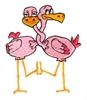 Love Birds (Flamingos)