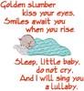 Golden Slumber Sleeping Baby Lullaby (Pillow)