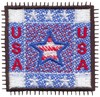 USA Block (Micro-embroidery)