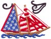 Stars and Stripes Ship (Micro-embroidery)