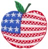 Stars and Stripes Apple (Micro-embroidery)