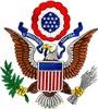 Patriotic Eagle (Square Hoop)