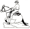 Running Horse with Rider - larger