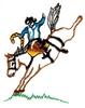 Saddle Bronco - outline